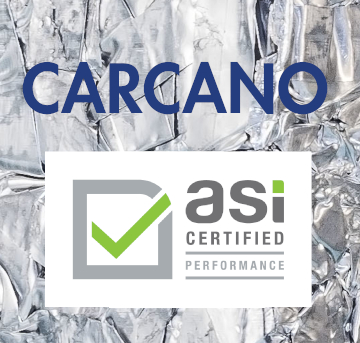 CARCANO certified against ASI Performance Full Standard