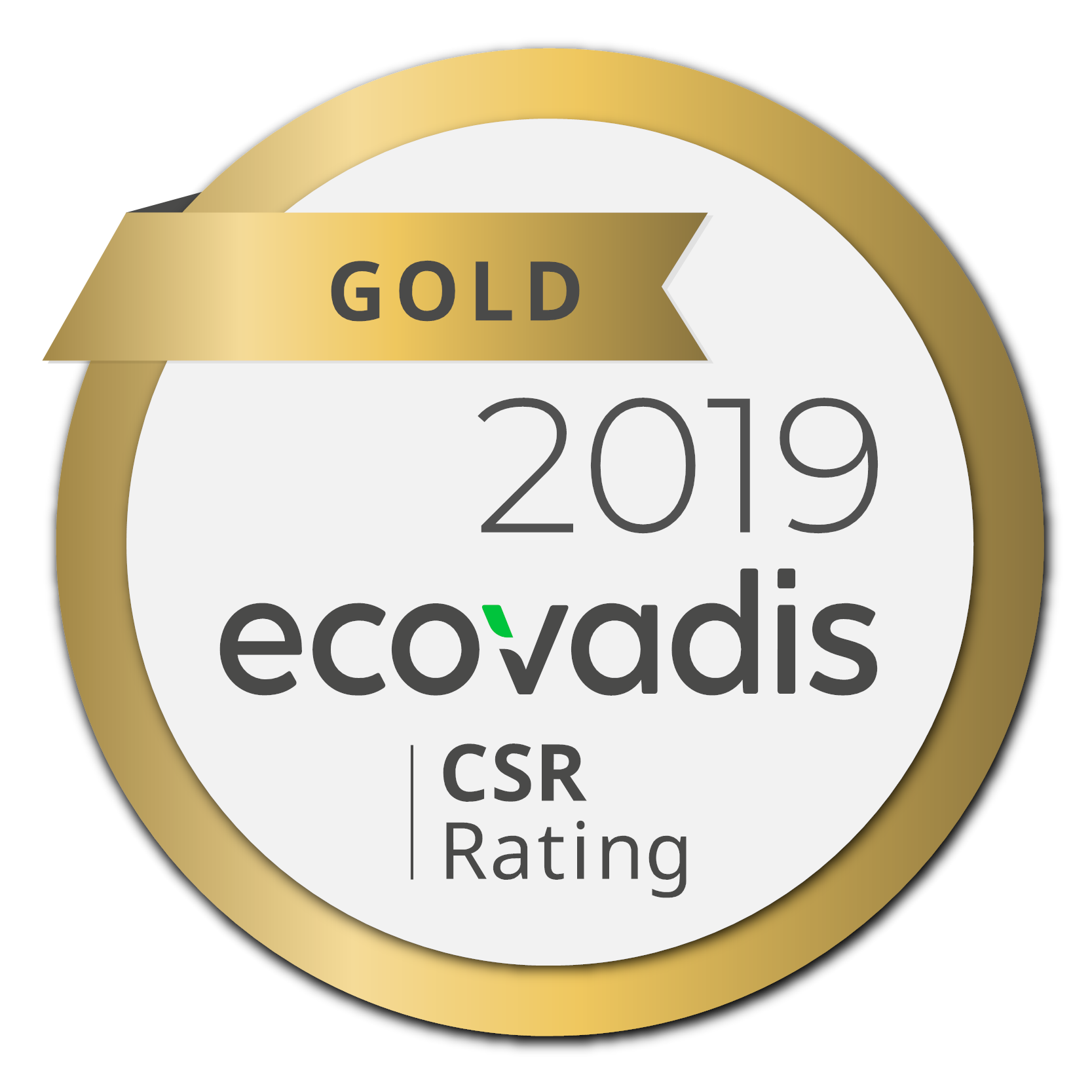 EcoVadis Rating Certificate Gold Medal